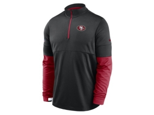 Nike San Francisco 49ers Men's Sideline Half Zip Therma Top