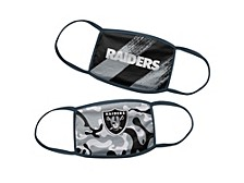 Oakland Raiders Little Boys 2pack Face Mask