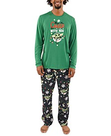 Matching Men's Holiday Baby Yoda Family Pajama Set