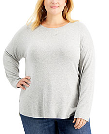 Style & Co Plus Size Heathered Top, Created for Macy's