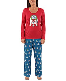 Matching Women's R2-D2 Holiday Wreath Family Pajama Set