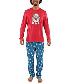 Matching Men's R2-D2 Holiday Wreath Family Pajama Set