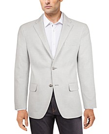 Men's Modern-Fit Gray/White Houndstooth Check Sport Coat
