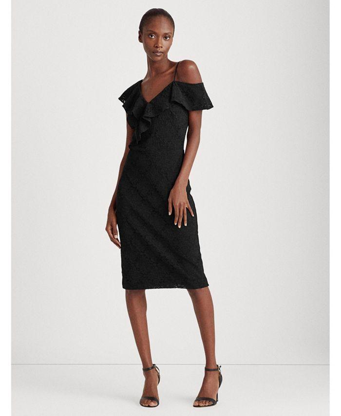 Lauren Ralph Lauren - Asymmetrical Lace Cocktail Dress