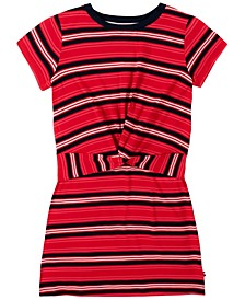 Big Girls Yarn Dye Twist Front Dress