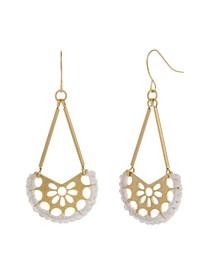 Gold-Tone Filigree Drop Earrings