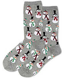 Women's Snowmen Fashion Crew Socks