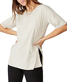Bella Drop Shoulder Short Sleeve Top