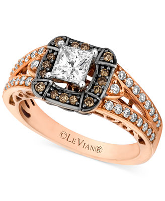 chocolate wedding rings le vian chocolate 1 1 10 ct t w and white 2917