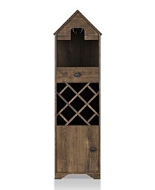 Dwella Reclaimed 1-Drawer Wine Cabinet