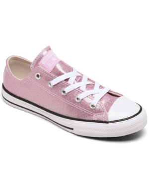 Converse Glitters LITTLE GIRLS COATED GLITTER CHUCK TAYLOR ALL STAR CASUAL SNEAKERS FROM FINISH LINE