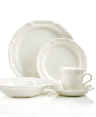 A gently scalloped edge in hardy stoneware gives the Mikasa French Countryside dinnerware collection an effortless grace thatu0027s ideal for every day.  sc 1 st  Macyu0027s & Mikasa Dinnerware French Countryside Collection - Dinnerware ...