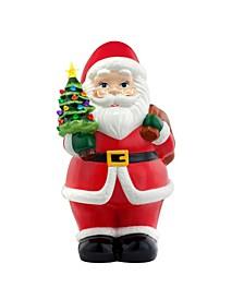 "22"" Lit Nostalgic Ceramic Figure- Santa"