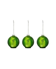 Mini Lit Mercury Glass Ornament Set