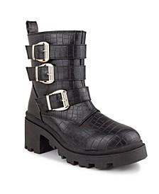 Women's Filo Buckled Moto Boots