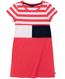 Big Girls Stripe Flag Tee Dress