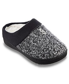 Women's Heathered Knit Jessie Hoodback Slippers