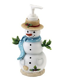 Coastal Snowman Lotion Pump
