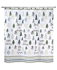 "Christmas Trees 72"" x 72"" Shower Curtain"