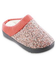 Women's Heathered Knit Jessie Hoodback Slippers