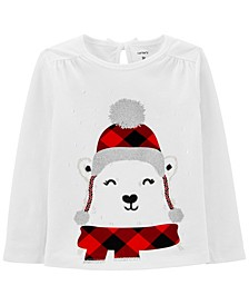 Toddler Girl Polar Bear Jersey Tee