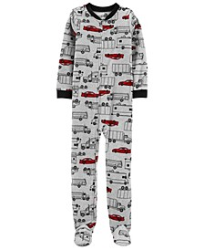 Big Boy 1-Piece Cars Fleece Footie PJs
