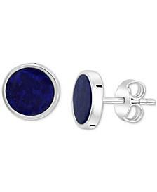 EFFY® Men's Lapis Lazuli Stud Earrings in Sterling Silver (Also in Malachite)