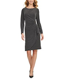 Ruched D-Buckle Sheath Dress