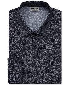 Men's Stay Crisp Extra-Slim Fit Performance Stretch Dot-Print Dress Shirt