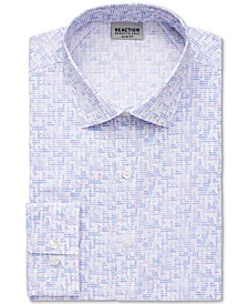 Men's Slim-Fit All Day Flex Performance Stretch Dot-Print Dress Shirt