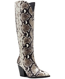 I.N.C. Women's Suke Western Boots, Created for Macy's