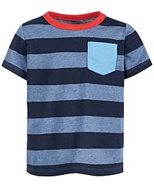 Baby Boys Short Sleeve Tonal Blue Rugby Tee, Created for Macy's