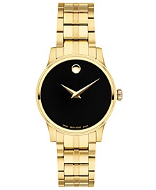 Women's Swiss Gold PVD Stainless Steel Bracelet Watch 28mm