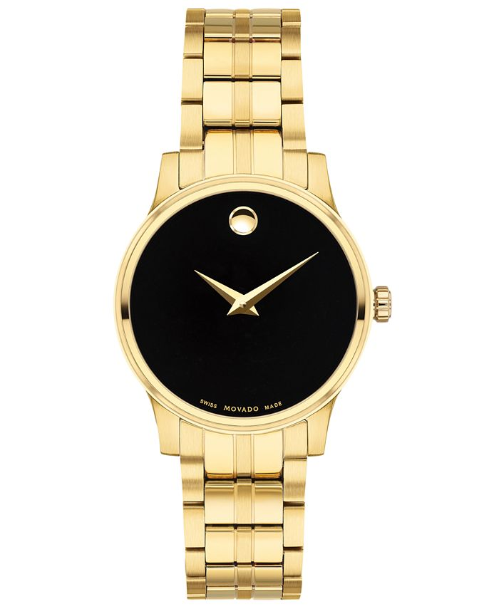 Movado - Women's Swiss Gold PVD Stainless Steel Bracelet Watch 28mm