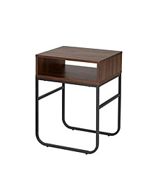 "18"" Curved Metal Leg Side Table"
