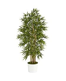 Bamboo Artificial Tree in Tin Planter