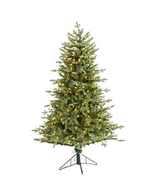 New Hampshire Spruce Artificial Christmas Tree with 300 Warm Lights and 618 Bendable Branches