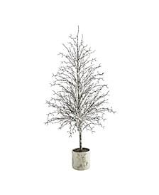 Snowed Twig Artificial Tree in Decorative Planter