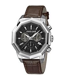 by Franck Muller Men's Swiss Quartz Brown Leather Strap Watch 43mm