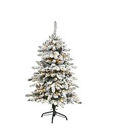 Flocked Livingston Fir Artificial Christmas Tree with Pine Cones and 150 Clear Warm LED Lights