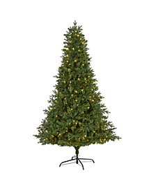 Vermont Fir Artificial Christmas Tree with 350 Clear LED Lights