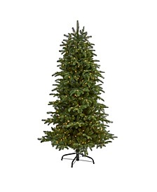 South Carolina Fir Artificial Christmas Tree with 450 Clear Lights and 1598 Bendable Branches