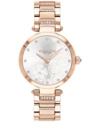 코치 여성 손목 시계 COACH Womens Park Carnation Rose Gold-Tone Bracelet Watch 30mm