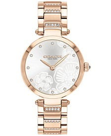 Women's Park Carnation Rose Gold-Tone Bracelet Watch 30mm