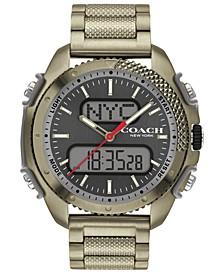 Men's C001 Analog-Digital Khaki-Tone Bracelet Watch 46mm