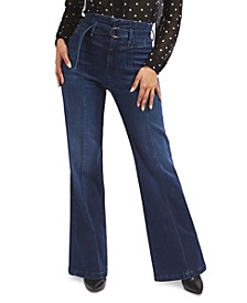 Marylou Super-High Rise Corset Wide Leg Jeans