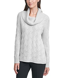 Chain-Stitched Cowlneck Sweater