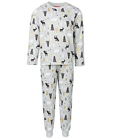 Matching Kids Woodland-Print Family Pajama Set, Created for Macy's