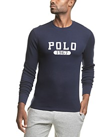 Men's Big & Tall Polo 1967 Logo Waffle-Knit Pajama Shirt