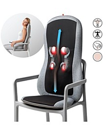 Smart-sense Shiatsu Realtouch Chair Pad, Soothing Heat, 4 Deep Kneading Gel Nodes, Pain Relief for Neck, Back, Shoulders, Lumbar, Pressure Points Body Scan